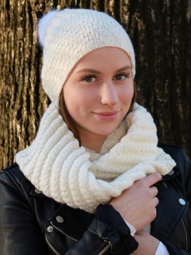 Lue og skjerf i Eco Wool