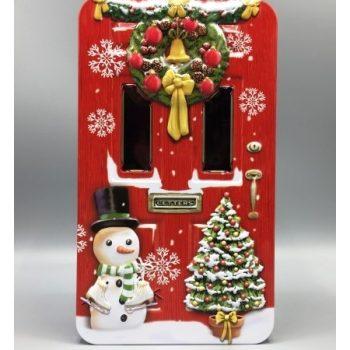 Kakeboks med rød juledør