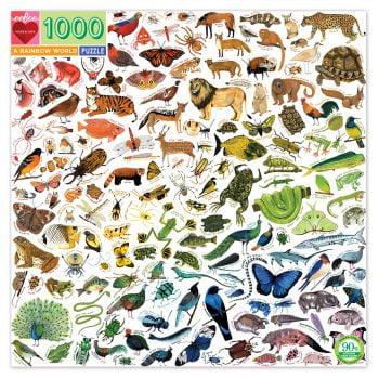Puslespill med fargerike dyr
