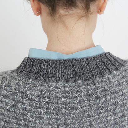 Gepard Spring – vevstrikket genser med v hals – garnpakke