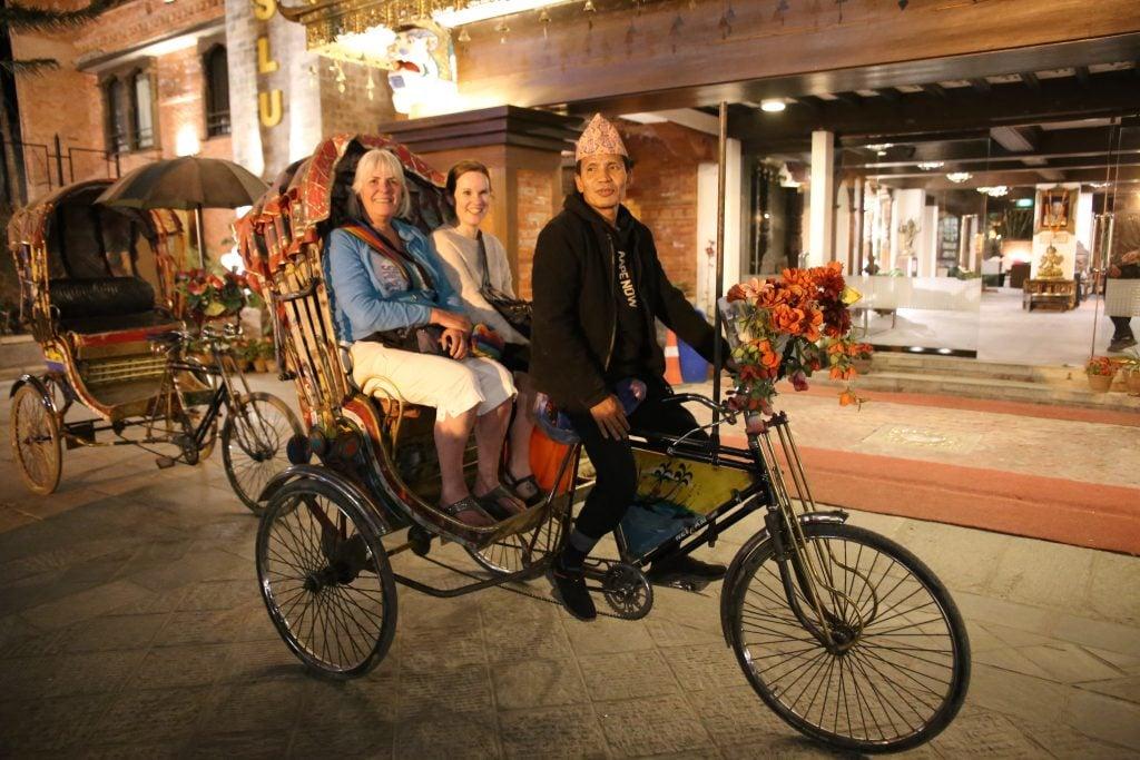Praktisk med rickshaw