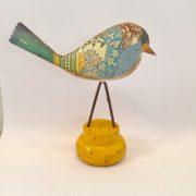 gul lykkefugl